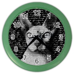 Sphynx cat Color Wall Clocks