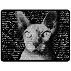 Sphynx cat Fleece Blanket (Large)