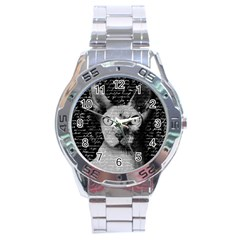 Sphynx cat Stainless Steel Analogue Watch