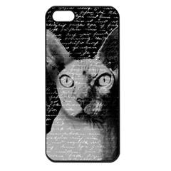 Sphynx cat Apple iPhone 5 Seamless Case (Black)