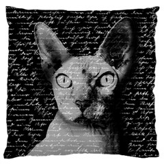 Sphynx cat Large Flano Cushion Case (Two Sides)