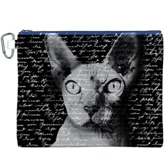 Sphynx cat Canvas Cosmetic Bag (XXXL)