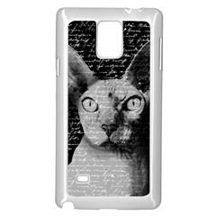 Sphynx cat Samsung Galaxy Note 4 Case (White)