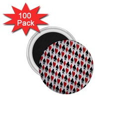 Suit Spades Hearts Clubs Diamonds Background Texture 1 75  Magnets (100 Pack)