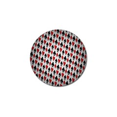 Suit Spades Hearts Clubs Diamonds Background Texture Golf Ball Marker (4 pack)
