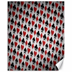 Suit Spades Hearts Clubs Diamonds Background Texture Canvas 16  x 20