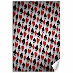 Suit Spades Hearts Clubs Diamonds Background Texture Canvas 20  X 30