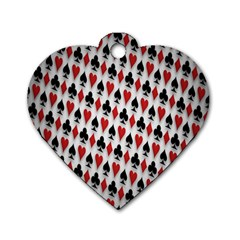 Suit Spades Hearts Clubs Diamonds Background Texture Dog Tag Heart (One Side)