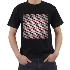 Suit Spades Hearts Clubs Diamonds Background Texture Men s T-Shirt (Black)