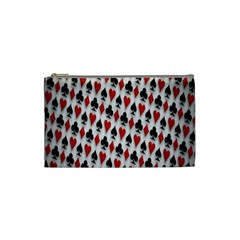 Suit Spades Hearts Clubs Diamonds Background Texture Cosmetic Bag (Small)