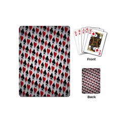 Suit Spades Hearts Clubs Diamonds Background Texture Playing Cards (mini)