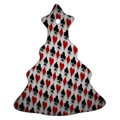 Suit Spades Hearts Clubs Diamonds Background Texture Ornament (christmas Tree)
