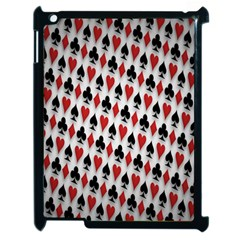 Suit Spades Hearts Clubs Diamonds Background Texture Apple iPad 2 Case (Black)