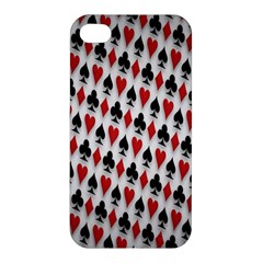 Suit Spades Hearts Clubs Diamonds Background Texture Apple iPhone 4/4S Hardshell Case