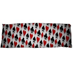 Suit Spades Hearts Clubs Diamonds Background Texture Body Pillow Case Dakimakura (Two Sides)