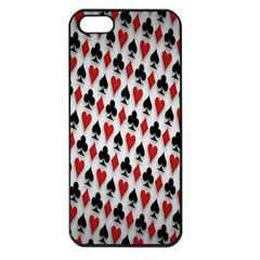Suit Spades Hearts Clubs Diamonds Background Texture Apple Iphone 5 Seamless Case (black)