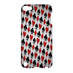 Suit Spades Hearts Clubs Diamonds Background Texture Apple iPod Touch 5 Hardshell Case