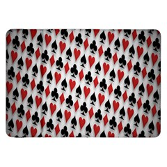Suit Spades Hearts Clubs Diamonds Background Texture Samsung Galaxy Tab 8.9  P7300 Flip Case