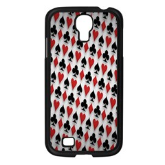 Suit Spades Hearts Clubs Diamonds Background Texture Samsung Galaxy S4 I9500/ I9505 Case (Black)