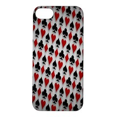 Suit Spades Hearts Clubs Diamonds Background Texture Apple iPhone 5S/ SE Hardshell Case