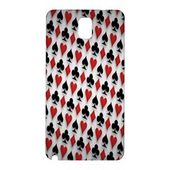 Suit Spades Hearts Clubs Diamonds Background Texture Samsung Galaxy Note 3 N9005 Hardshell Back Case