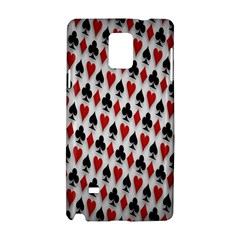 Suit Spades Hearts Clubs Diamonds Background Texture Samsung Galaxy Note 4 Hardshell Case
