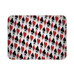 Suit Spades Hearts Clubs Diamonds Background Texture Double Sided Flano Blanket (Mini)