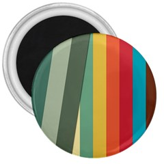 Texture Stripes Lines Color Bright 3  Magnets