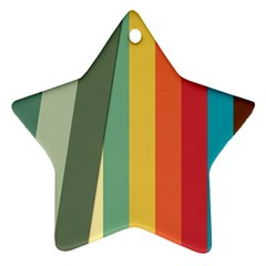 Texture Stripes Lines Color Bright Ornament (Star)