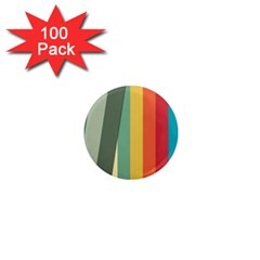 Texture Stripes Lines Color Bright 1  Mini Magnets (100 pack)