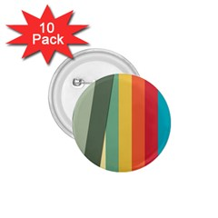 Texture Stripes Lines Color Bright 1.75  Buttons (10 pack)