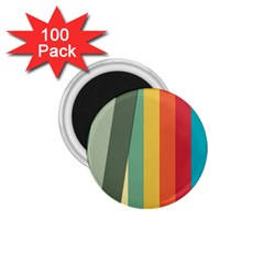Texture Stripes Lines Color Bright 1 75  Magnets (100 Pack)