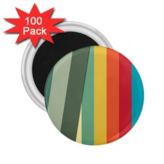 Texture Stripes Lines Color Bright 2 25  Magnets (100 Pack)