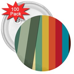 Texture Stripes Lines Color Bright 3  Buttons (100 Pack)