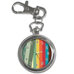 Texture Stripes Lines Color Bright Key Chain Watches