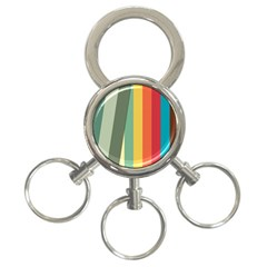 Texture Stripes Lines Color Bright 3-Ring Key Chains