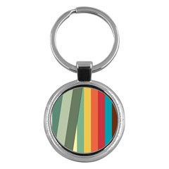 Texture Stripes Lines Color Bright Key Chains (Round)
