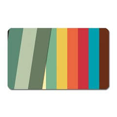 Texture Stripes Lines Color Bright Magnet (Rectangular)