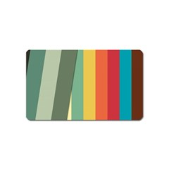 Texture Stripes Lines Color Bright Magnet (name Card)