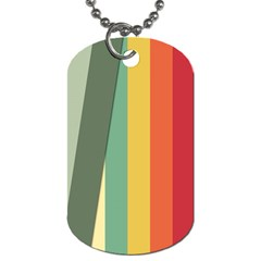 Texture Stripes Lines Color Bright Dog Tag (one Side)
