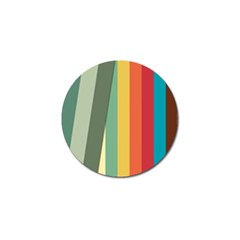 Texture Stripes Lines Color Bright Golf Ball Marker