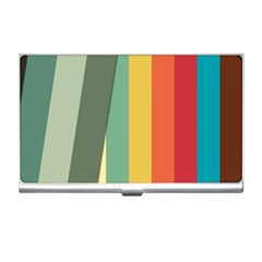 Texture Stripes Lines Color Bright Business Card Holders