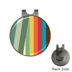 Texture Stripes Lines Color Bright Hat Clips With Golf Markers
