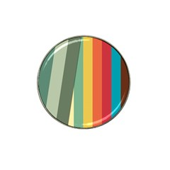 Texture Stripes Lines Color Bright Hat Clip Ball Marker (10 pack)