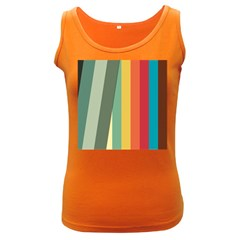 Texture Stripes Lines Color Bright Women s Dark Tank Top