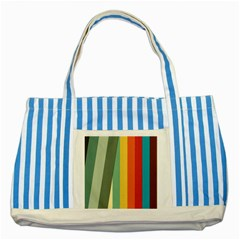 Texture Stripes Lines Color Bright Striped Blue Tote Bag