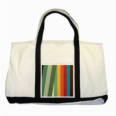 Texture Stripes Lines Color Bright Two Tone Tote Bag