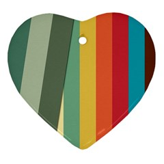 Texture Stripes Lines Color Bright Heart Ornament (Two Sides)