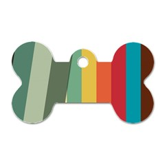 Texture Stripes Lines Color Bright Dog Tag Bone (two Sides)