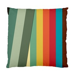 Texture Stripes Lines Color Bright Standard Cushion Case (two Sides)